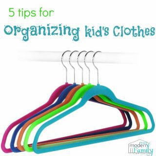 Organizing Kid's Closets