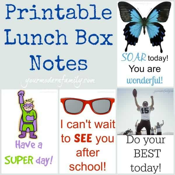 printable lunch box notes