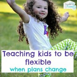 teach kids to be flexible