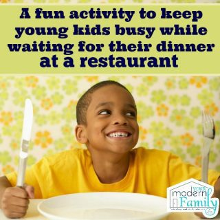 Teaching kids to wait at the restaurant