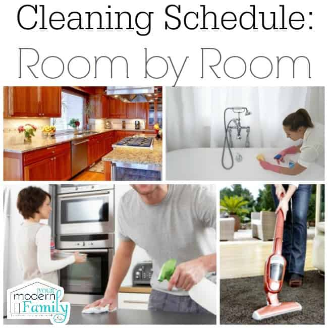 Cleaning Schedule -room by room