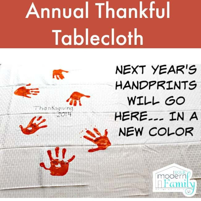 DIY thankful tablecloth