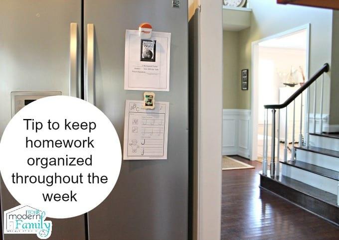 homework organizing trick