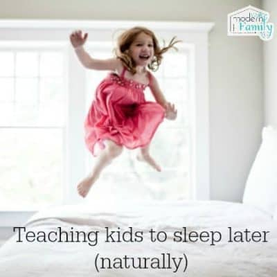 teach kids to sleep later