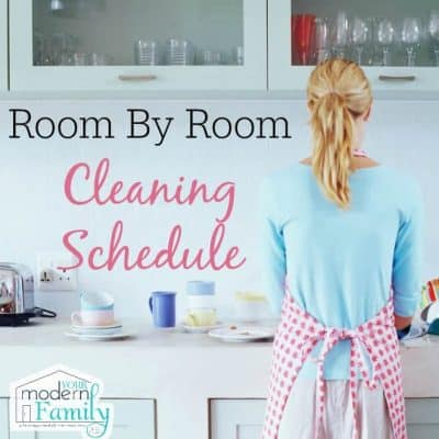 room by room cleaning schedule
