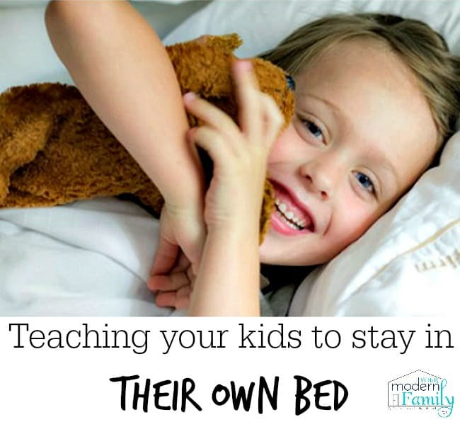 teaching your kids to stay in bed