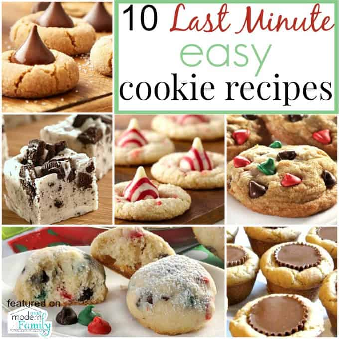 10 last minute cookie recipes