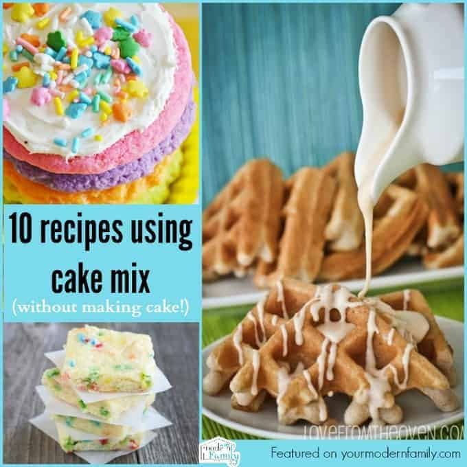 10 recipes using cake mix