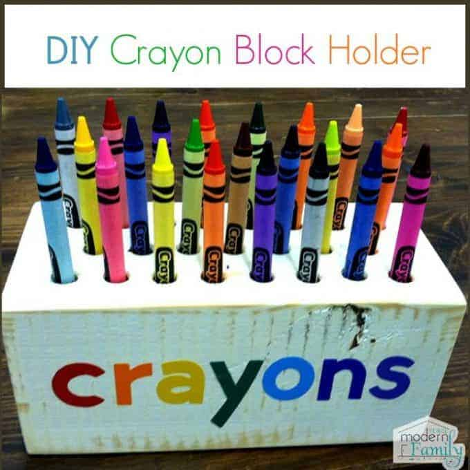 diy crayon block holder