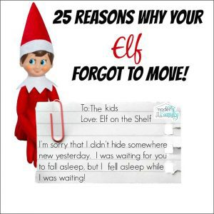 Elf on the shelf forgot to move
