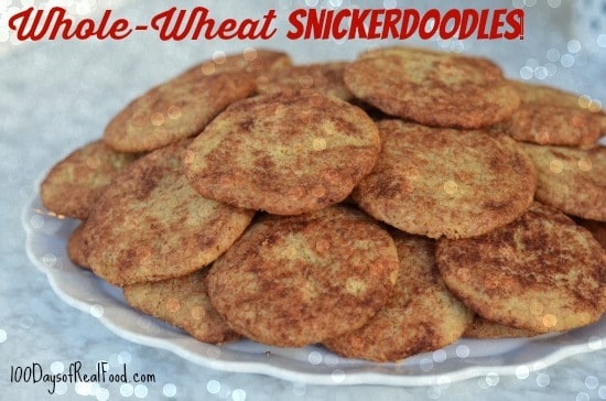 Whole-Wheat-Snickerdoodle-Cookies-on-100-Days-of-Real-Food
