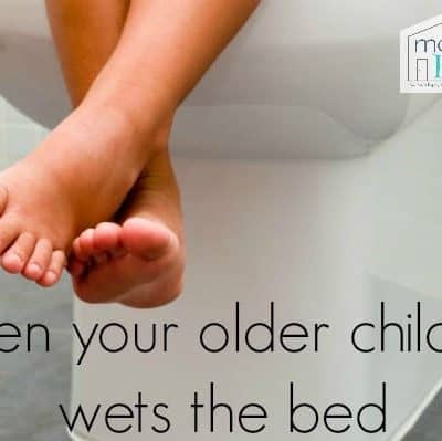 older child wetting the bed? Try this