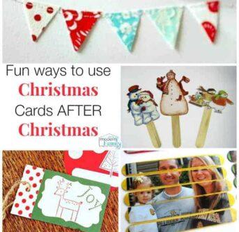 reuse cards after Christmasreuse cards after Christmas