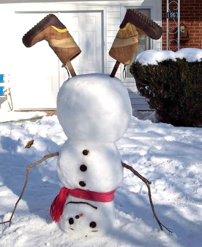snowman upside down