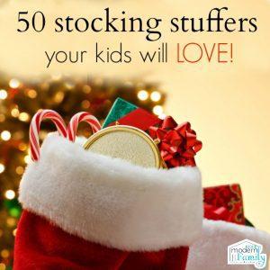50 stocking stuffers the kids will LOVE!