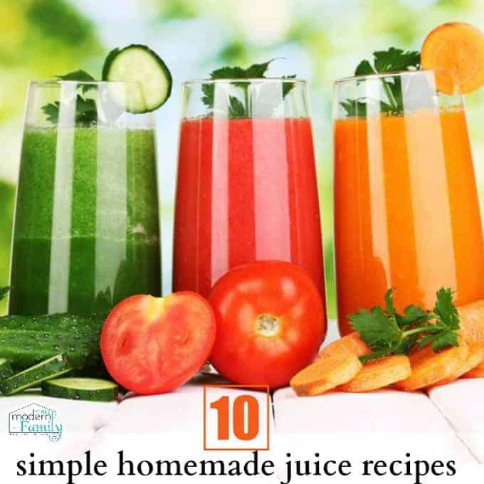 10 simple homemade juice recipes