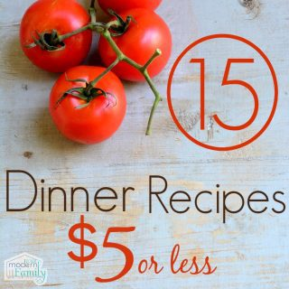 15 dinners for $5 each!