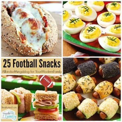 25 football snacks