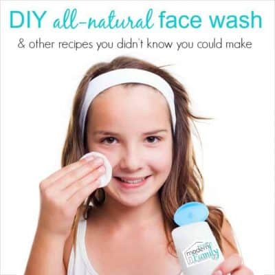 DIY all-natural face wash
