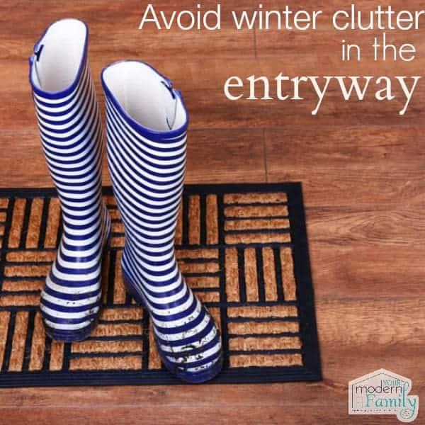 avoid winter clutter in entryway
