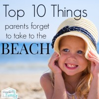 top 10 things parents forget to take to the beach