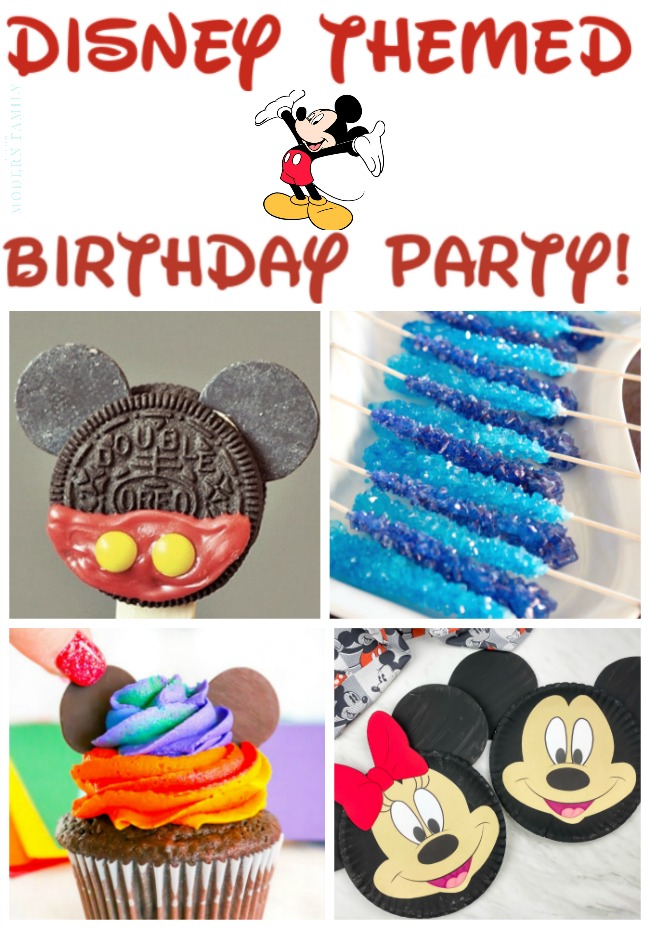 Disney themed birthday party ideas