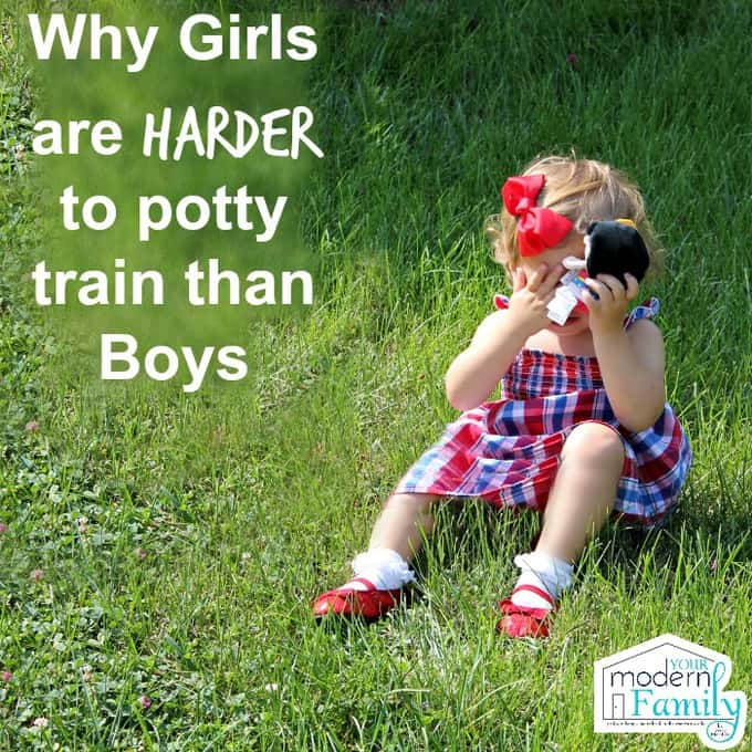 why girls are harder to potty train than boys