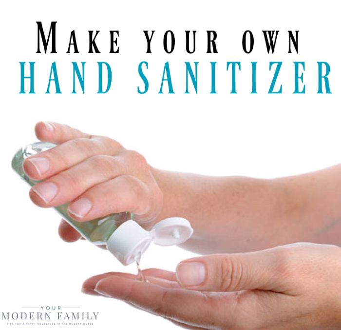 hand sanitizer you make yourself