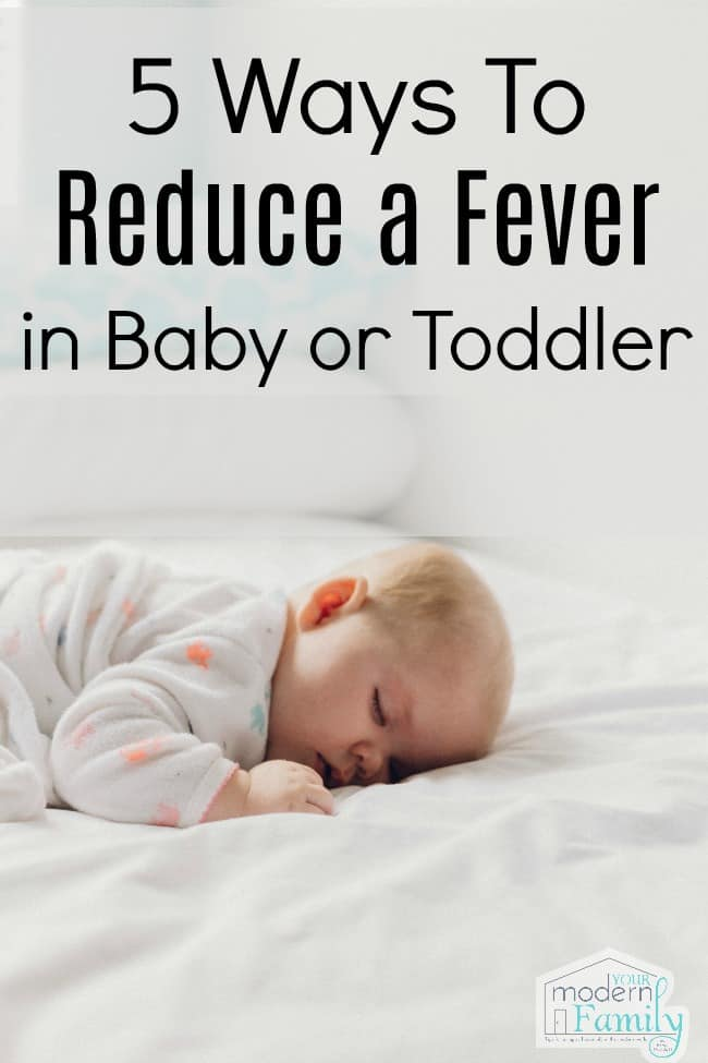 reduce a fever in baby or toddler