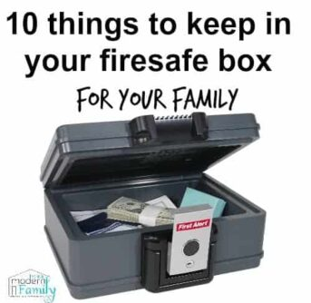 what to keep in your firesafe box