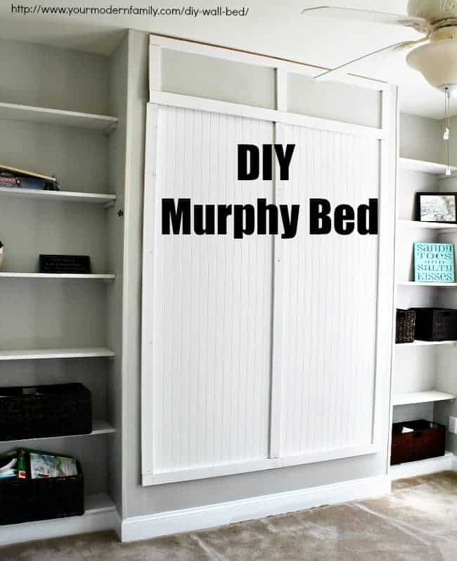 DIY Murphy bed for under $150 – with video & plans