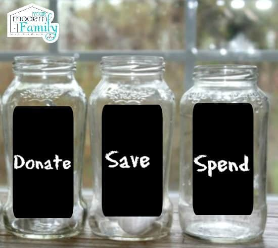 donate, save, spend for kids