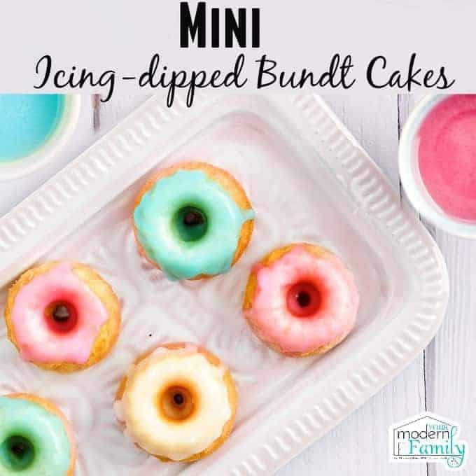 mini icing dipped bundt cake