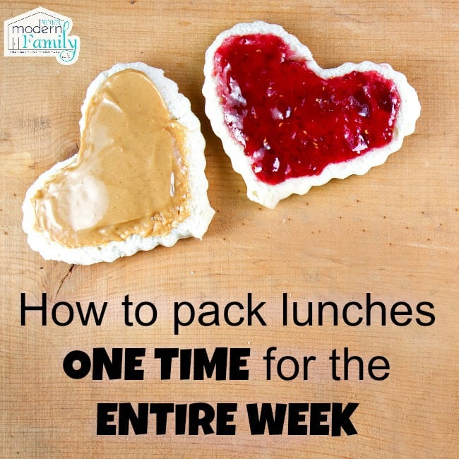 pack lunches once for the week