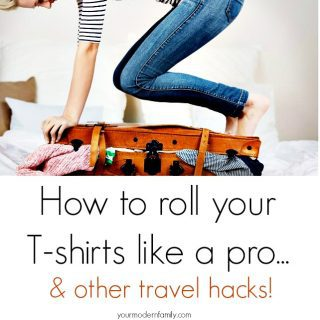 How to roll your shirt like a pro & other packing hacks (and a giveaway)