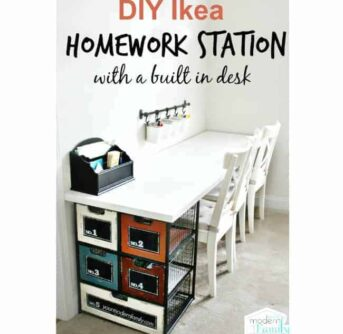 A homework station in a room