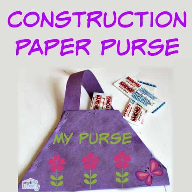 construction paper purse #playon