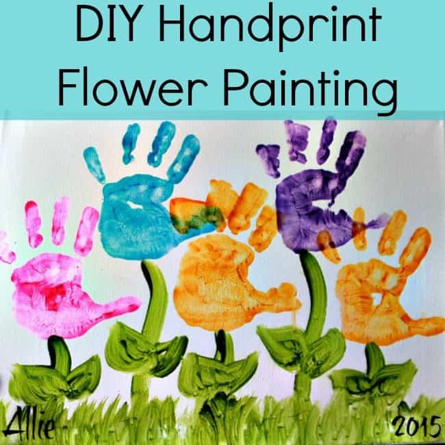 handprint flower painting