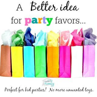 Alternatives to Goody Bags at parties