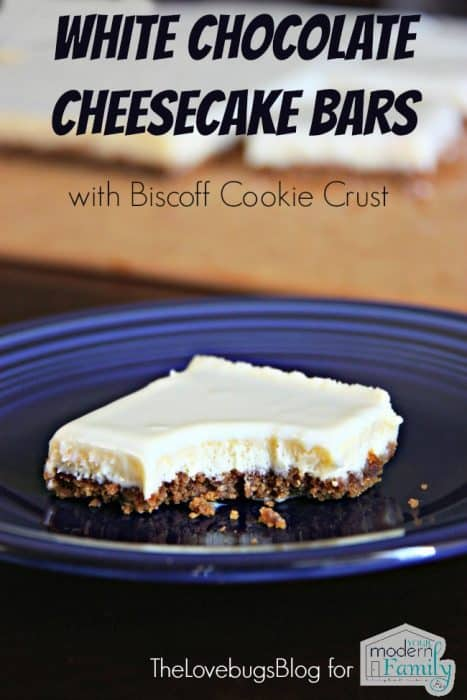 White Chocolate Cheesecake Bar with Biscoff Cookie Crust 2