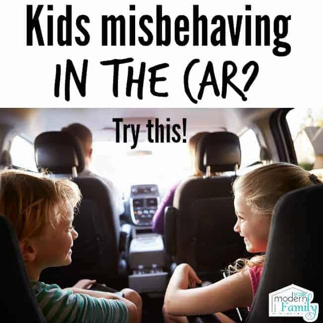 misbehaving in car