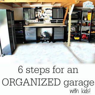 De-cluttering the garage