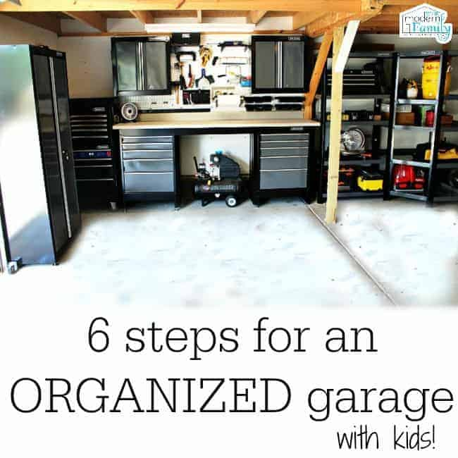 organizing the garage