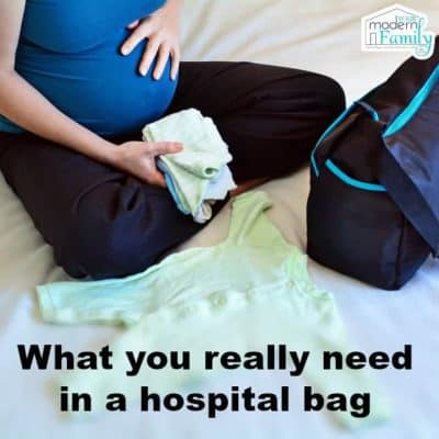what you really need for a hospital bag