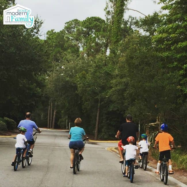 biking outdoors - yourmoderfamily