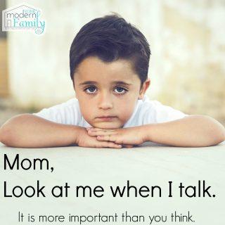 Mom, look at my eyes