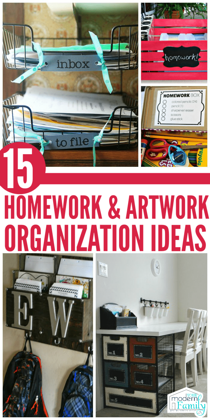 Homework organization ideas and cool ways to display your kids' artwork