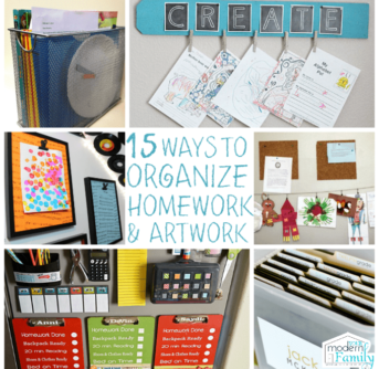 Clever ways to organize homework and artwork