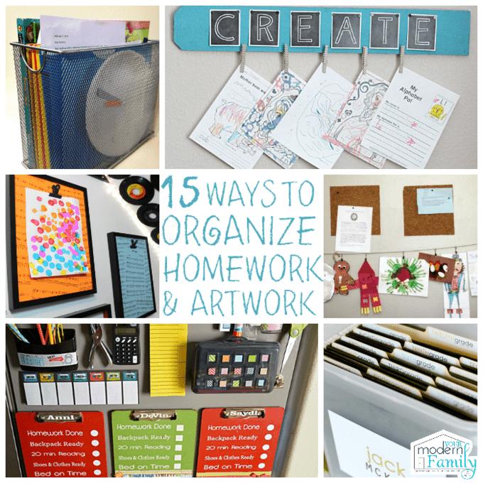 15 Homework Organization And Art Display Ideas