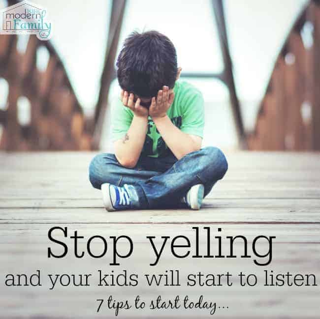 stop yelling & the kids will start to LISTEN